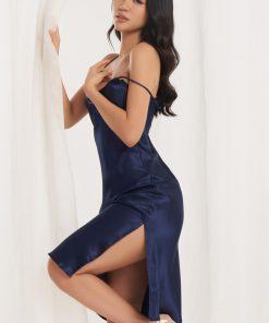Đầm vbcg màu xanh đen